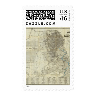 Bancroft's Official San Francisco City Map Stamp