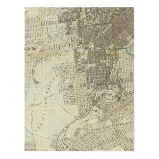 Bancroft's Official San Francisco City Map Postcard