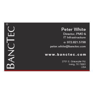BancTec Peter White Double-Sided Standard Business Cards (Pack Of 100)