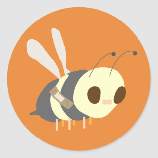 Band aid Bee Classic Round Sticker