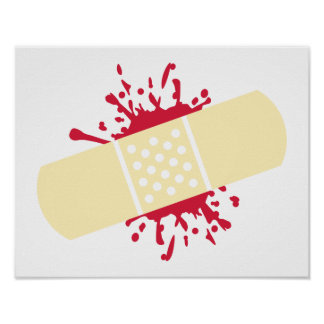 Band-aid Blood Poster