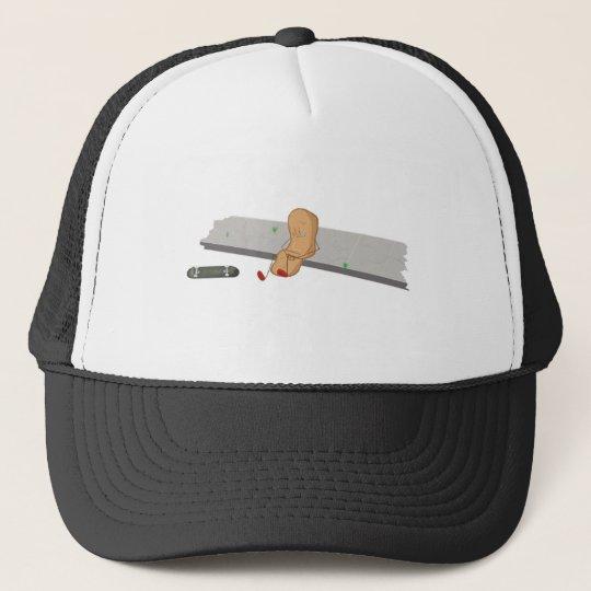 Band-aid has a boo boo trucker hat