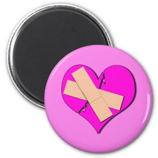 Band Aid Heart 2 Inch Round Magnet