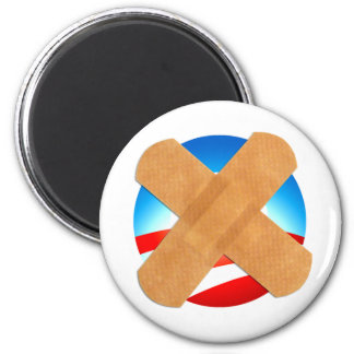 Band-aid No to Obamascare 2 Inch Round Magnet