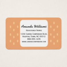 Band-aid Nurse Or Caregiver Business Card at Zazzle