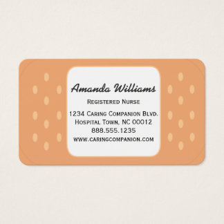 Band-aid Nurse or Caregiver Business Card