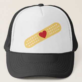 Band-Aid With A Red Heart Trucker Hat