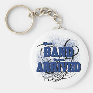 Band Arrived/ Blue Basic Round Button Keychain