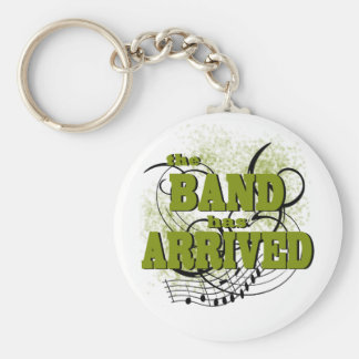 Band Arrived/ Gold Basic Round Button Keychain