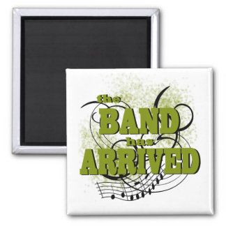 Band Arrived/ Gold 2 Inch Square Magnet