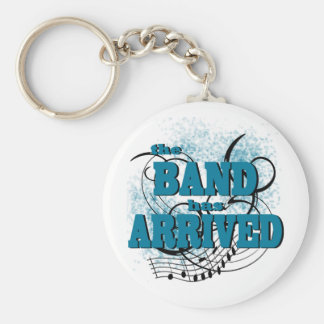 Band Arrived/ Teal Basic Round Button Keychain