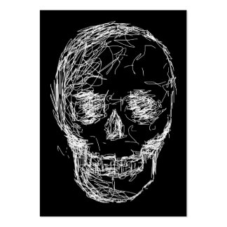 Band Business Cards with Skull Sketch. Custom.