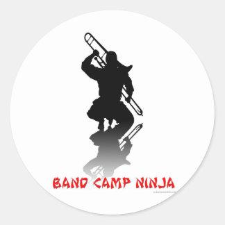 Band Camp Ninja Classic Round Sticker