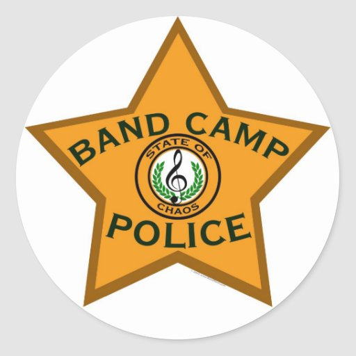 Band Camp Police Stickers