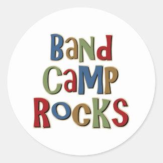 Band Camp Rocks Classic Round Sticker