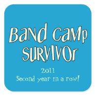 Band Camp Survivor Sticker Square Sticker