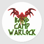 Band Camp Warlock Classic Round Sticker