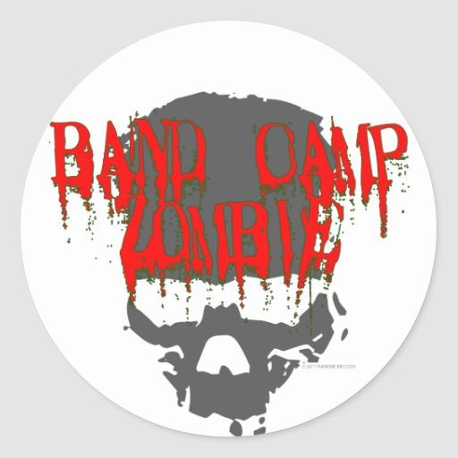 Band Camp Zombie Classic Round Sticker