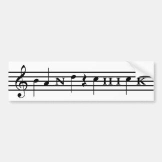 Band Chick Bumper Sticker