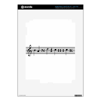 Band Chick iPad 3 Decals
