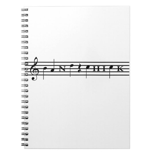 Band Chick Spiral Notebook