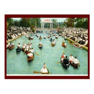 Band Concert, Belle Isle Park, Detroit Vintage Postcard