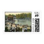 Band Concert, Delaware Park, Buffalo 1911 Vintage Postage Stamps