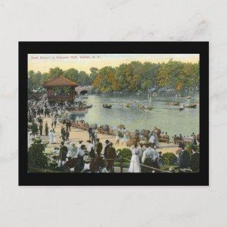 Band Concert, Delaware Park, Buffalo 1911 Vintage postcard
