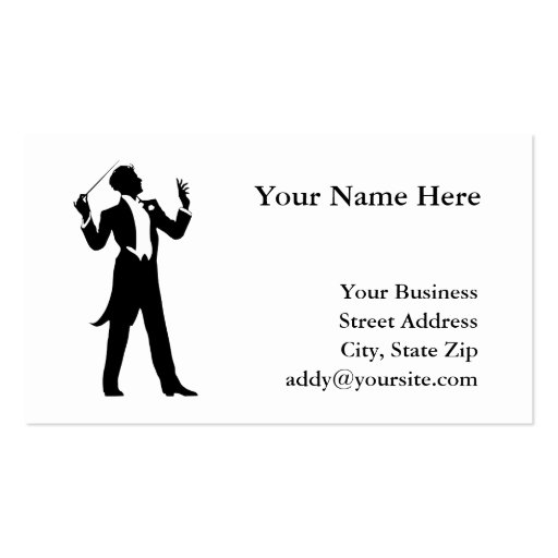 Band Conductor Business Card Templates