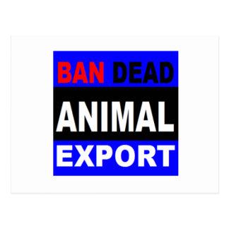 band dead animal exports postcard