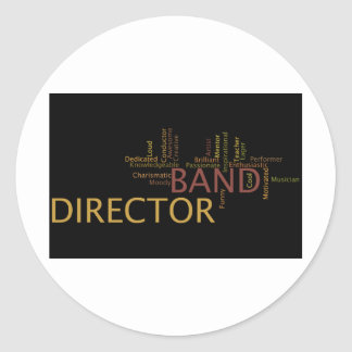 Band Director Classic Round Sticker