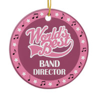 Band Director Gift For Her Ornament