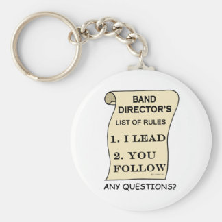 Band Director List Of Rules Basic Round Button Keychain