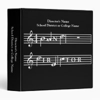 Band Director Personalized Gift Binder