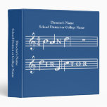 Band Director Personalized Gift Binder at Zazzle