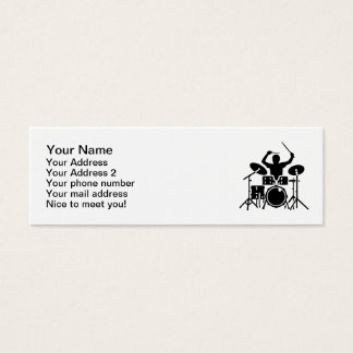 Band drummer drums mini business card