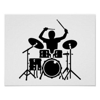 Band drummer drums poster