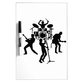 Band drummer guitarist singer Dry-Erase whiteboards
