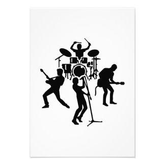 Band drummer guitarist singer personalized invitation