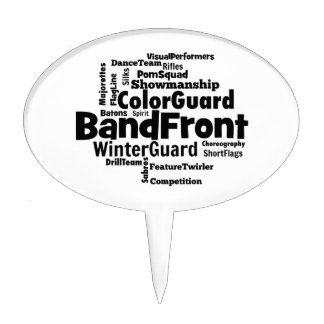 Band Front Word Cloud Cake Topper