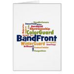 Band Front Word Cloud Card