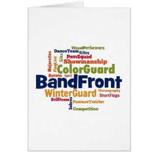 Band Front Word Cloud Greeting Card