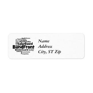 Band Front Word Cloud Custom Return Address Labels