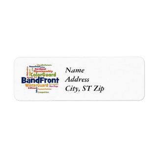 Band Front Word Cloud Custom Return Address Label