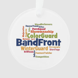 Band Front Word Cloud Ornament