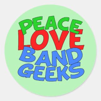 Band Geek Classic Round Sticker