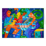 """""""Band Groove"""" Original painting by R.A.Brown© Greeting Cards"""