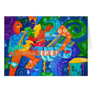 """""""Band Groove"""" Original painting by R.A.Brown© Card"""