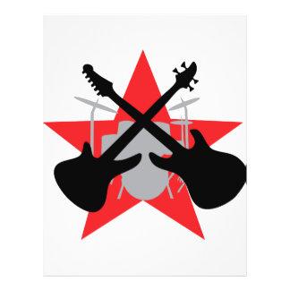 "band guitar drum star 8.5"" x 11"" flyer"