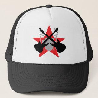 band guitar drum star trucker hat